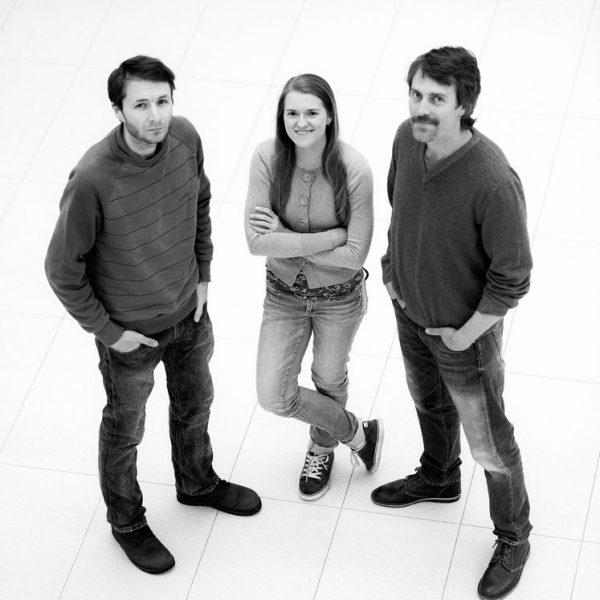 Das Projektteam v.l.n.r: Richard Schwarz, Sarah Pfeifer, Christopher Eymann. Foto: Christian Mey.
