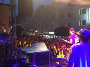 Rebel Musig Crew beim Wörgler Stadtfest 2017. Foto: Petra Rodens