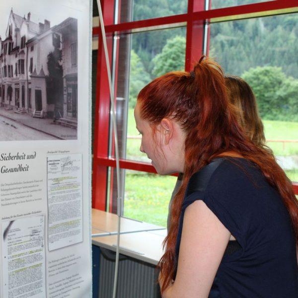 BRG Wörgl - Ausstellung NS Zwangsarbeit - das vergessene Lager in Wörgl am 29.6.2017. Foto: Veronika Spielbichler