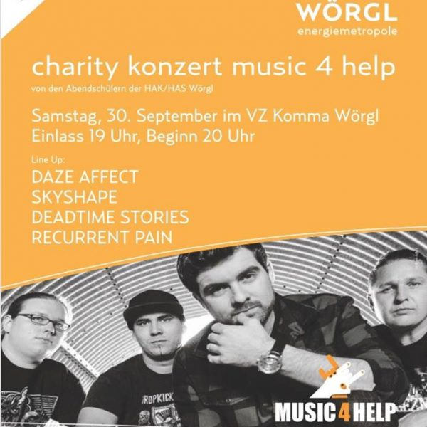Plakat Charity-Konzert in Wörgl am 30.9.2017.