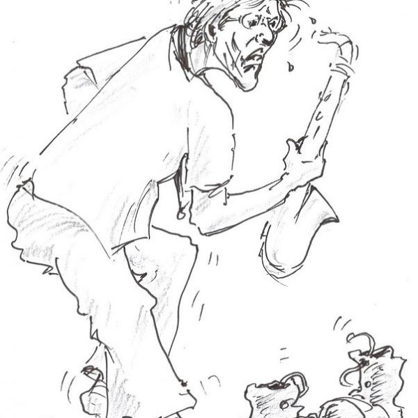 Karikatur von Sepp Rangger. Foto: Privat