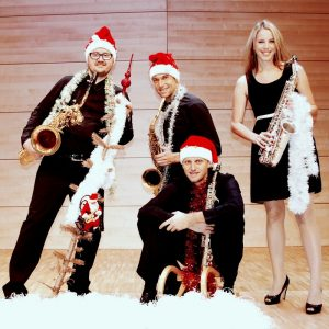 Das Saxophon-Quartett Saxlamanda. (Foto: Hubert Klingler)