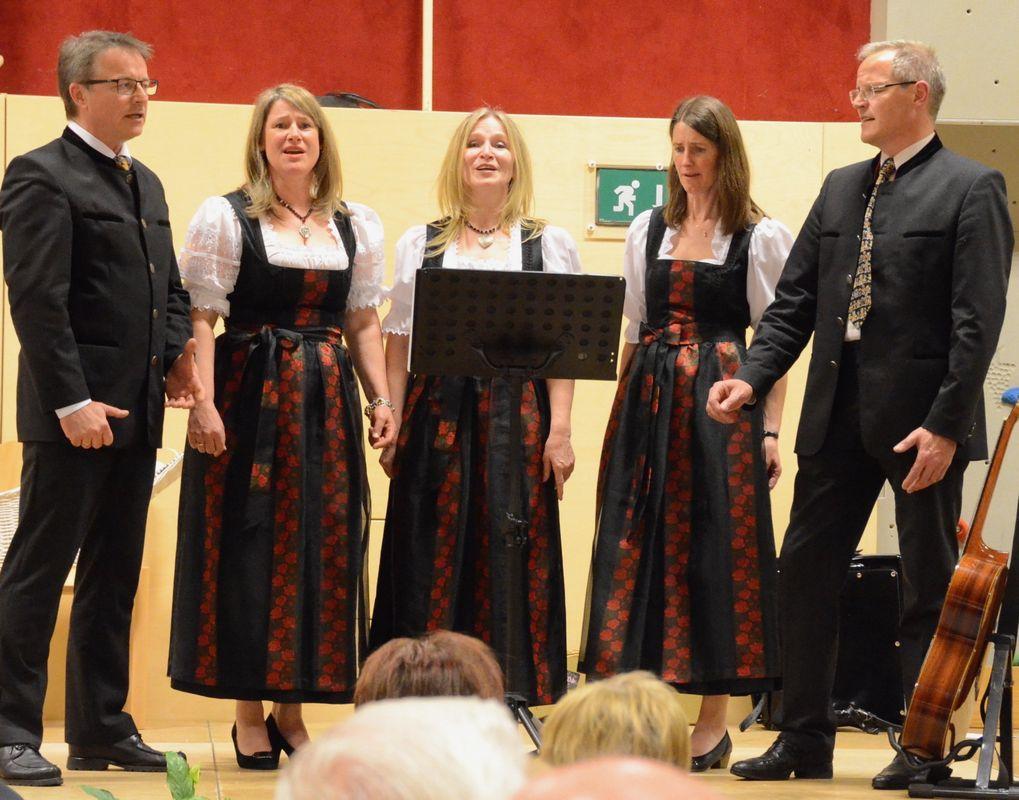 Das Gesangs-Quintett Tiroler Stimmen. (Foto: Nageler)