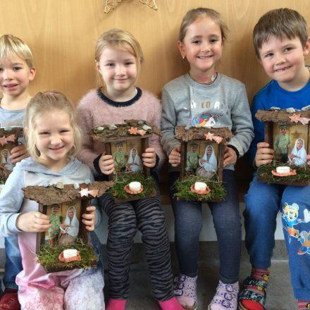 Angerberger Kindergarten Krippenprojekt. Foto Wilhelm Maier