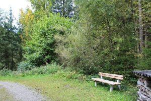 Neu aufgestellte Ruhebänke laden entlang des Fuchsweges zum Rasten. Foto: Spielbichler