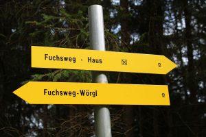 2017 wurde der Fuchsweg vom TVB Ferienregion Hohe Salve neu beschildert. Foto: Spielbichler