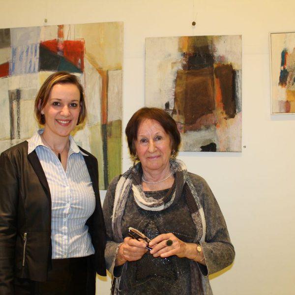 Ausstellungseröffnung Eva Teusch-Seissl am 19. Jänner 2018 im Tagungshaus Wörgl. Foto: Veronika Spielbichler