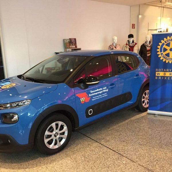 Der Rotary Club Wörgl-Brixental unterstützt den Wörgler Gesundheits- und Sozialsprengel - das neue Auto wird nach dem Benefizkonzert am 1.3.2018 eingeweiht. Foto: Rotary Club Wörgl-Brixental