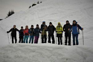 Am 28. Jänner 2018 brachen die Wörgler Naturfreunde zur ersten gemeinsamen Schneeschuhwanderung auf. Foto: Naturfreunde Wörgl