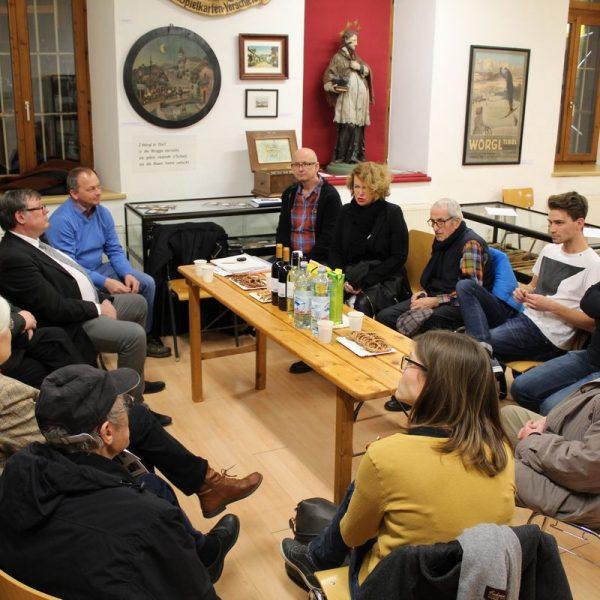 Wörgler Kulturstammtisch am 22. März 2018. Foto: Veronika Spielbichler