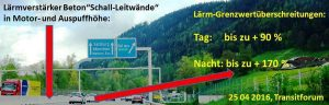 Betonleitwände im Visier des Transitforum Austria-Tirol. Grafik: Transitforum