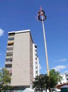 Das Team Wörgl stellt heuer zum 8. Mal einen Maibaum im Anger der Karglbauern in der Bahnhofstraße neben dem Wörgler Stadtamt auf. Foto: Team Wörgl