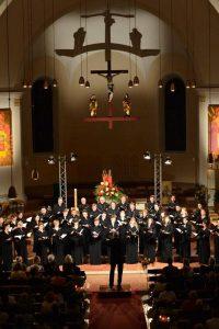 In der Wörgler Stadtpfarrkirche findet am 3. August 2018 das Festkonzert 30 Jahre Academia Vocalis statt. Foto: Academia Vocalis