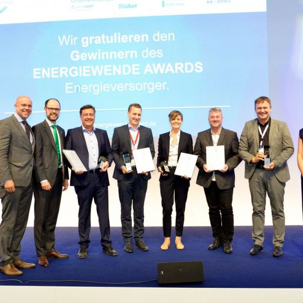 Die ausgezeichneten österreichischen Energieversorger - 2.v.r. Stadtwerke-GF Reinhard Jennewein. Foto: EuPD Research