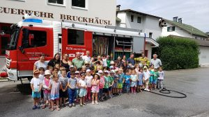 Kindergarten Bruckhäusl zu Besuch bei der FF Bruckhäusl. Foto: FF Bruckhäusl