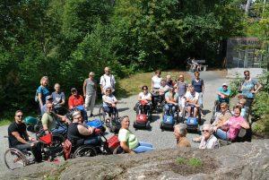 Gute Laune beim Aktivsportwochenende: Der RSCTU erobert den Bayerischen Wald. Foto: Rollstuhlsportclub Tirol Unterland