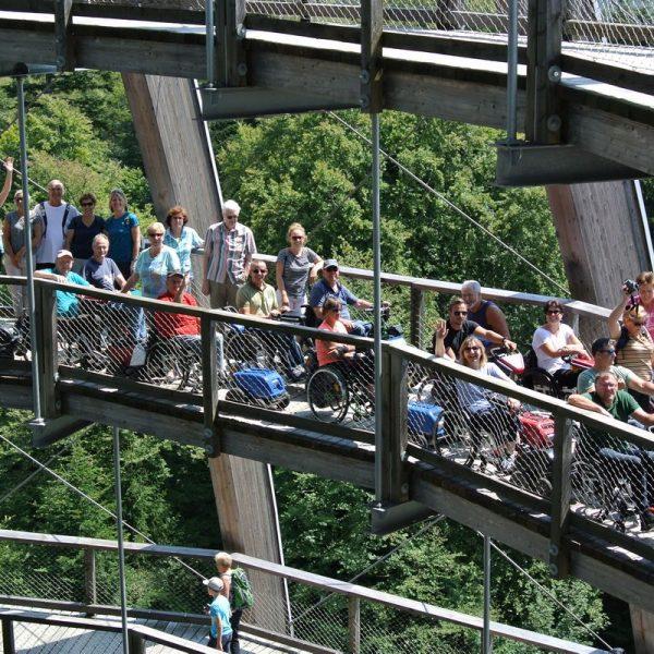 Spektakulär: Der Baumwipfelweg im Bayerischen Wald. Foto: Rollstuhlsportclub Tirol Unterland