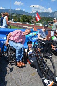 Handbike Charity Tour Sport´s Life am 22.8.2018 in Wörgl. Foto: Veronika Spielbichler