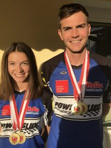 Anna und Thomas Petutschnigg sind Tiroler Meister auf der Bahn. Foto TRSV