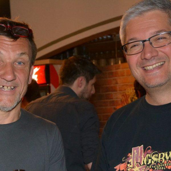Regisseur Helmuth A. Häusler (links) und GSBW-Obmann Stuart Kugler. Foto: Veronika Spielbichler
