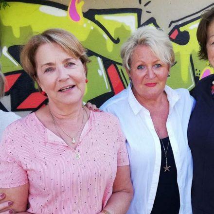 Die vier Malerinnen Hannelore Rueland, Brigitte Skrivan, Georgine Striede und AngelaNacci. Bildnachweis: Franz Bode