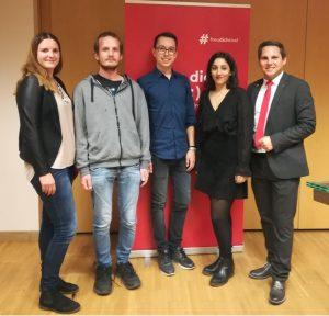 Daniela Zöttl, Alexander Fuchs, Daniel Veselinovic und Eda Celik mit NR Christian Kovacevic. Foto: SPÖ Tirol