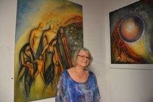 Vernissage Ausstellung 4 Powerfrauen in der Galerie am Polylog 5.10.2018. Foto: Veronika Spielbichler