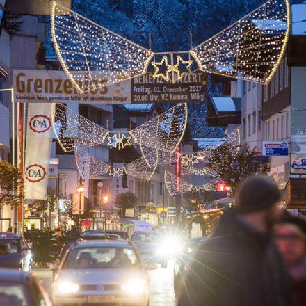 Weihnachtszeit in der Wörgler Innenstadt. Foto: Dabernig
