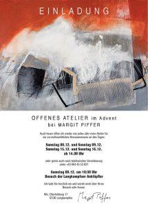 Einladung Offenes Atelier. Foto: Piffer