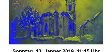 Das Wörgler Streicher- und Bläserensemble lädt zum Neujahrskonzert 2019. Grafik: WSBE