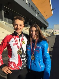 Staatsmeisterin 2019 – Linus Heidegger (6 der Olympischen Spiele 2018) und Anna Petutschnigg. Foto: ASSA