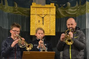 Weihnachtskonzert der LMS Wörgl in der Holzmeisterkirche Bruckhäusl am 14.12.2018. Foto: Veronika Spielbichler