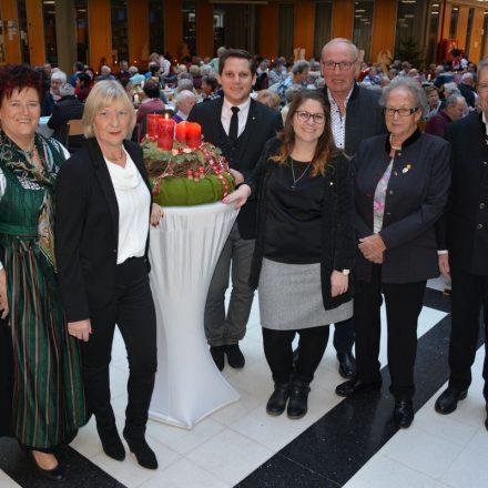 Seniorenweihnachtsfeier der Stadtgemeinde Wörgl am 15.12.2018. Foto: Veronika Spielbichler