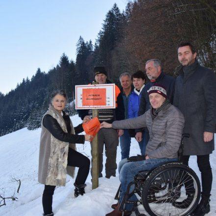 Rodelbahn Möslalm - Wiedereröffnung im Jänner 2019. Foto: Stadtgemeinde Wörgl