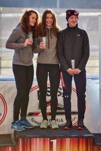 Am Podest: Anna Molnar (AUT) , Anna Petutschnigg (AUT), Zusana Kursova (CZE). Foto: ASSA