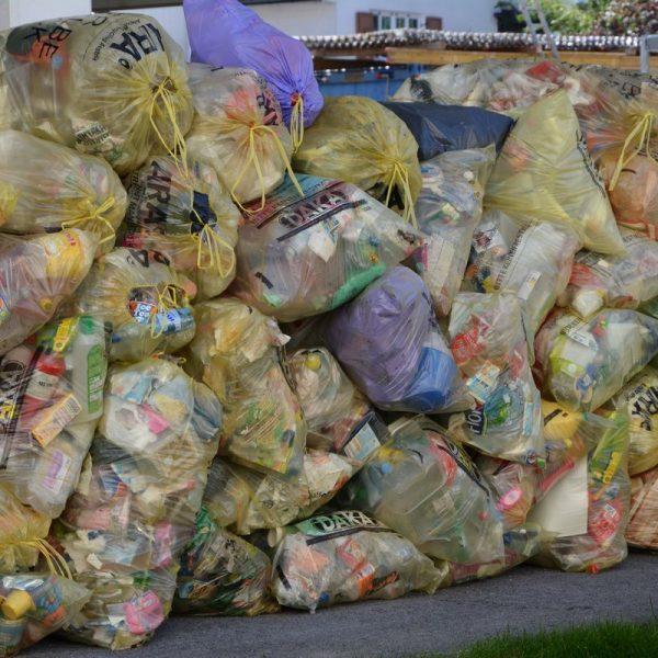 Der Gelbe Sack dient der Sammlung von Kunststoff-Abfällen. Foto: Veronika Spielbichler