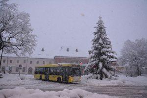 Schneefall am 9. Jänner 2019 in Wörgl. Foto: Veronika Spielbichler