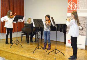 Kammermusikensemble Fourtissimo mit Lara Salzburger, Ronja Lettenbichler, Yuki Pan, Laura Steinbacher (Foto LMS Wörgl)