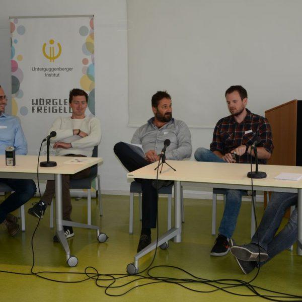Radiosendung zur Tagung sozial & digital 2018 vom Unterguggenberger Institut Wörgl. Foto: Veronika Spielbichler