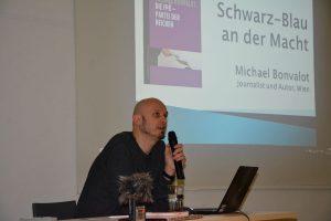 Michael Bonvalot am 11.2.2019 im Tagungshaus Wörgl. Foto: Veronika Spielbichler