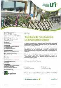 LFI-Kurs Palmbuschen binden. Foto: LFI