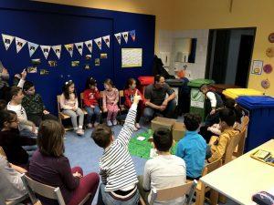 Die Stadtwerke vermittelten in einem Workshop an der Volksschule richtiges Mülltrennen. Foto: Stadtwerke Wörgl