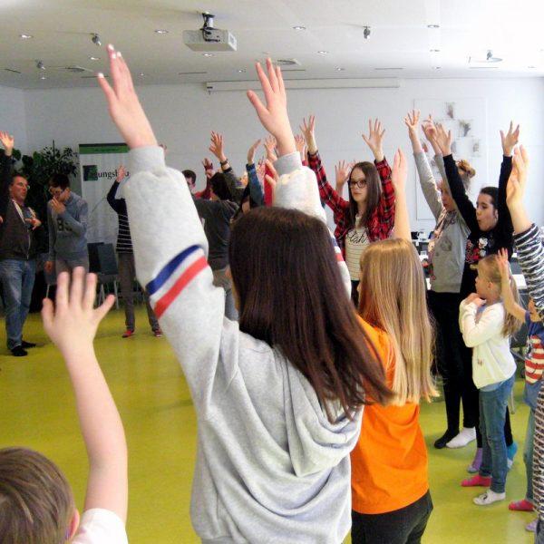 Spielen und miteinander feiern war am 21. März 2019 wieder anlässlich des Welt-Down-Syndrom-Tages angesagt. Foto: Tagungshaus