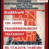 """Die SPÖ lädt zum ersten Erzähl-Café: """"100 Jahre Frauenwahlrecht"""" am 17.4.2019 ab 19 Uhr im Volkshaus Wörgl. Foto: SPÖ"""