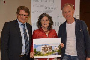 Pressekonferenz NHT Wohnbauprojekt Augasse neben Bahntrasse am 18.4.2019. Foto: Veronika Spielbichler