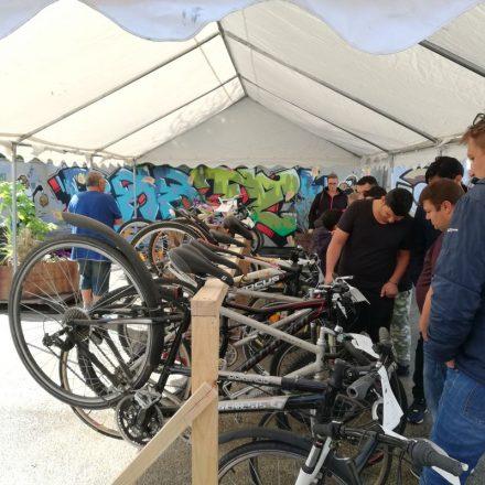 1. Wörgler Fahrradbörse am 4. Mai 2019 in der Zone Kultur.Leben.Wörgl. Foto: Komm!unity