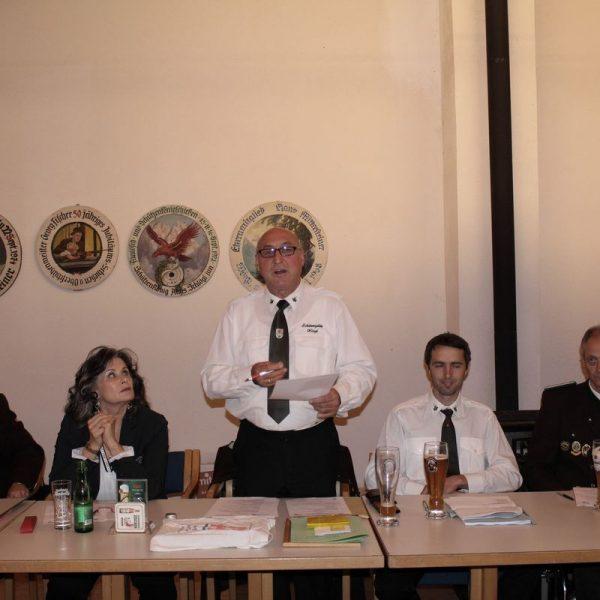 Kassier Peter Bauhofer, Bgm. Hedi Wechner, OSM Alfred Bauhofer, SR Michael Bauhofer, Vbgm. / 1. SM Hubert Aufschnaiter. Foto: Wilhelm Maier