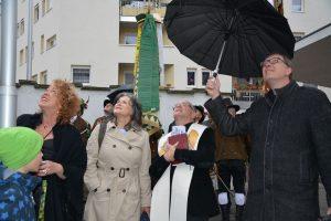 Wörgler Kirchenrenvierung - Festakt Turmkreuz-Aufsteckung am 3. Mai 2019. Foto: Veronika Spielbichler