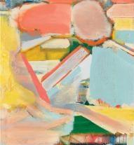 Abbildung: Michael Markwick, Shifting Sky, 2018. Acryl auf Leinwand, 95 x 120 cm