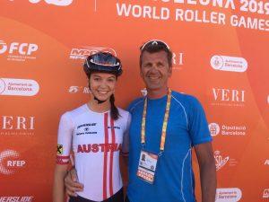Anna Petutschnigg mit TRSV Präsident Robert Petutschnigg. Foto: SC Lattella Wörgl